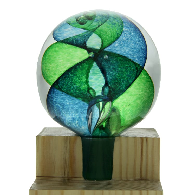Spiral Banister Ball - Green