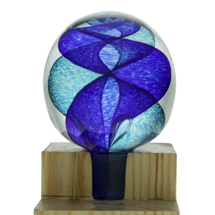 Spiral Banister Ball - Blue