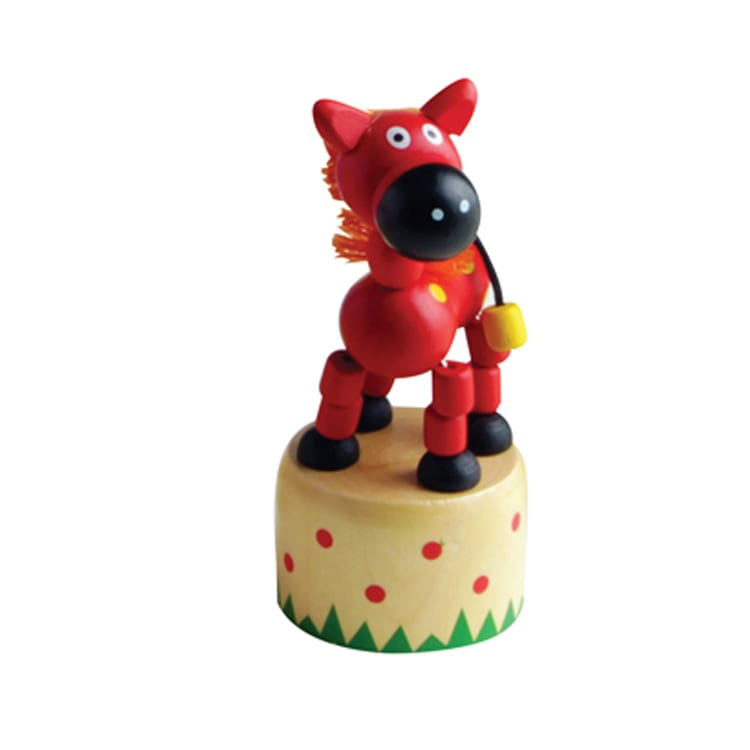 Dancing Horse Thumb Push Toy House Of Marbles