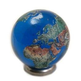 30MM Crystal World Map Marble