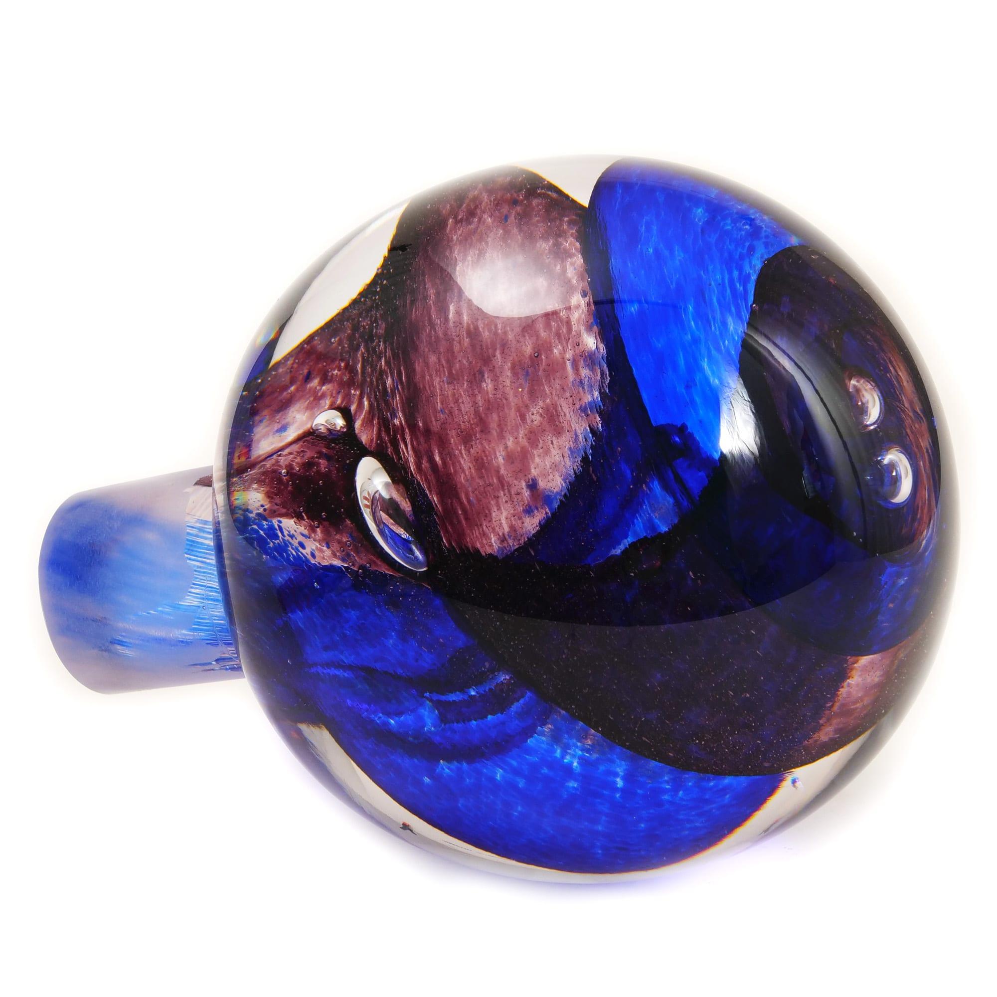 Spiral Banister Ball - Purple
