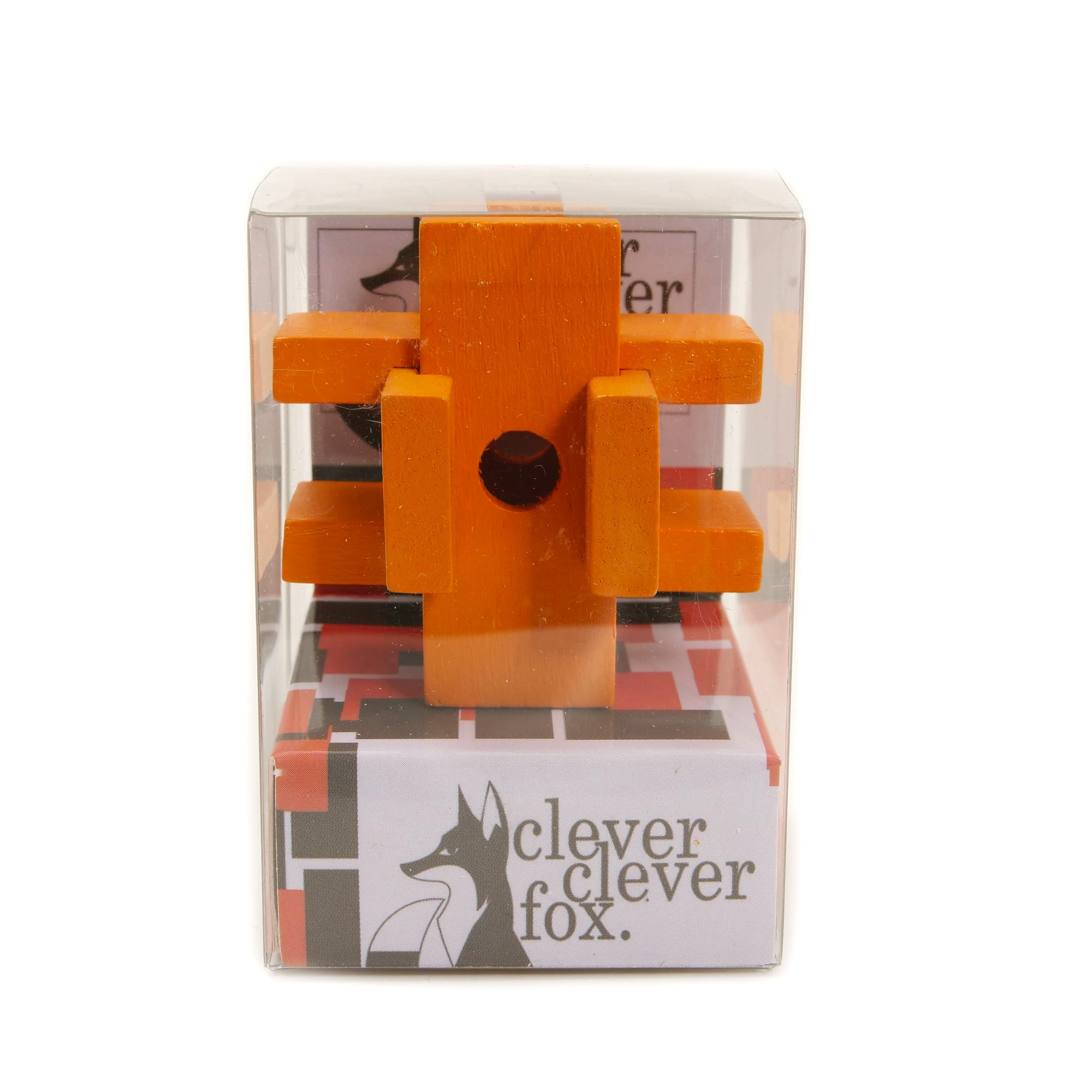Clever Fox: Clever Clever Fox Wooden Puzzles - Orange