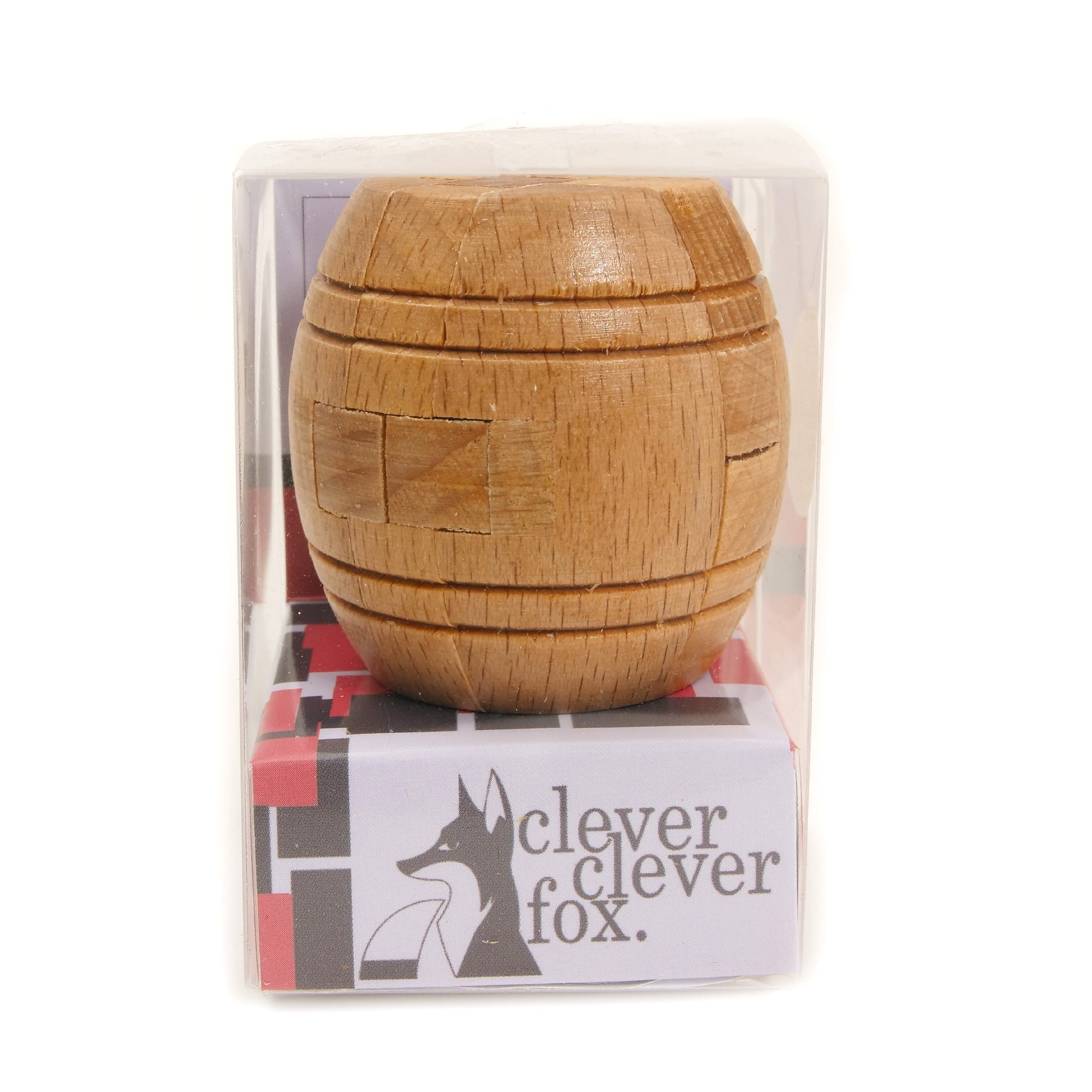 Clever Fox: Clever Fox Wooden Puzzle - Wooden Barrel