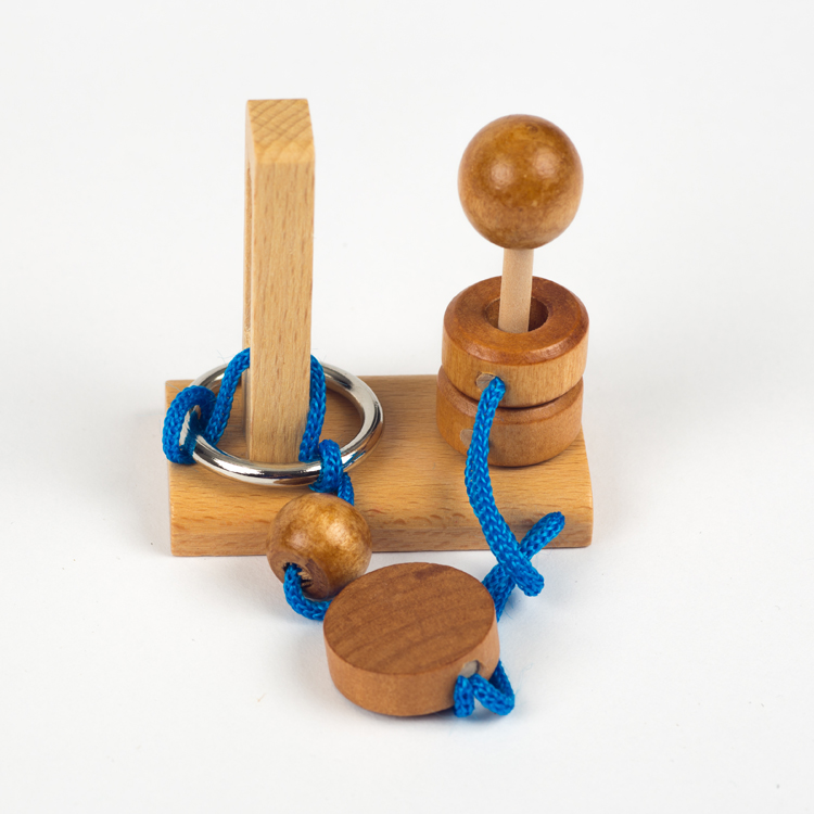 Clever Fox: Clever Fox Rope Puzzle - Blue