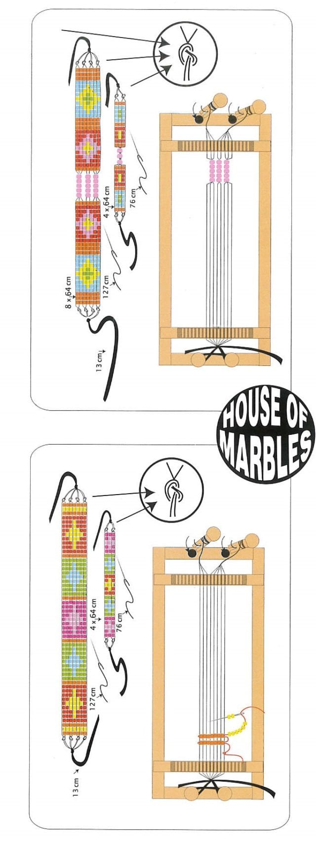 Wooden Bead Bracelet Loom Instructions House Of Marbles